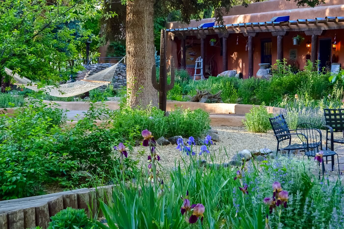 hammock in a summer garden