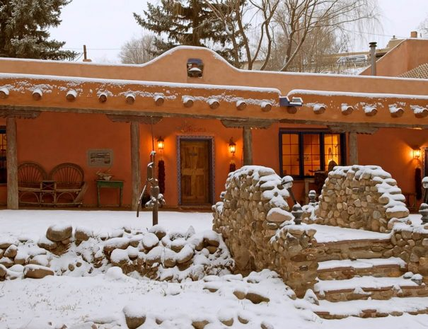 Winter Snow at the Adobe and Pines Inn