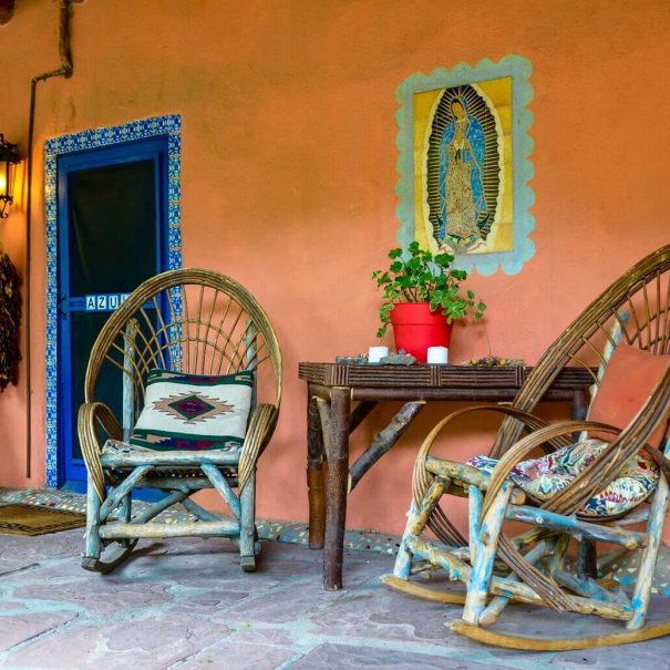 Puerta Azul outside patio